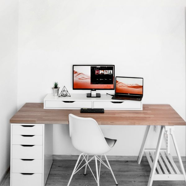 Desktop Table with Drawers